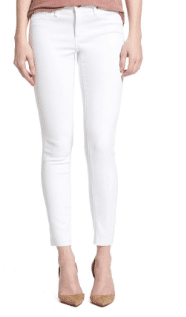 Perfect white cropped denim