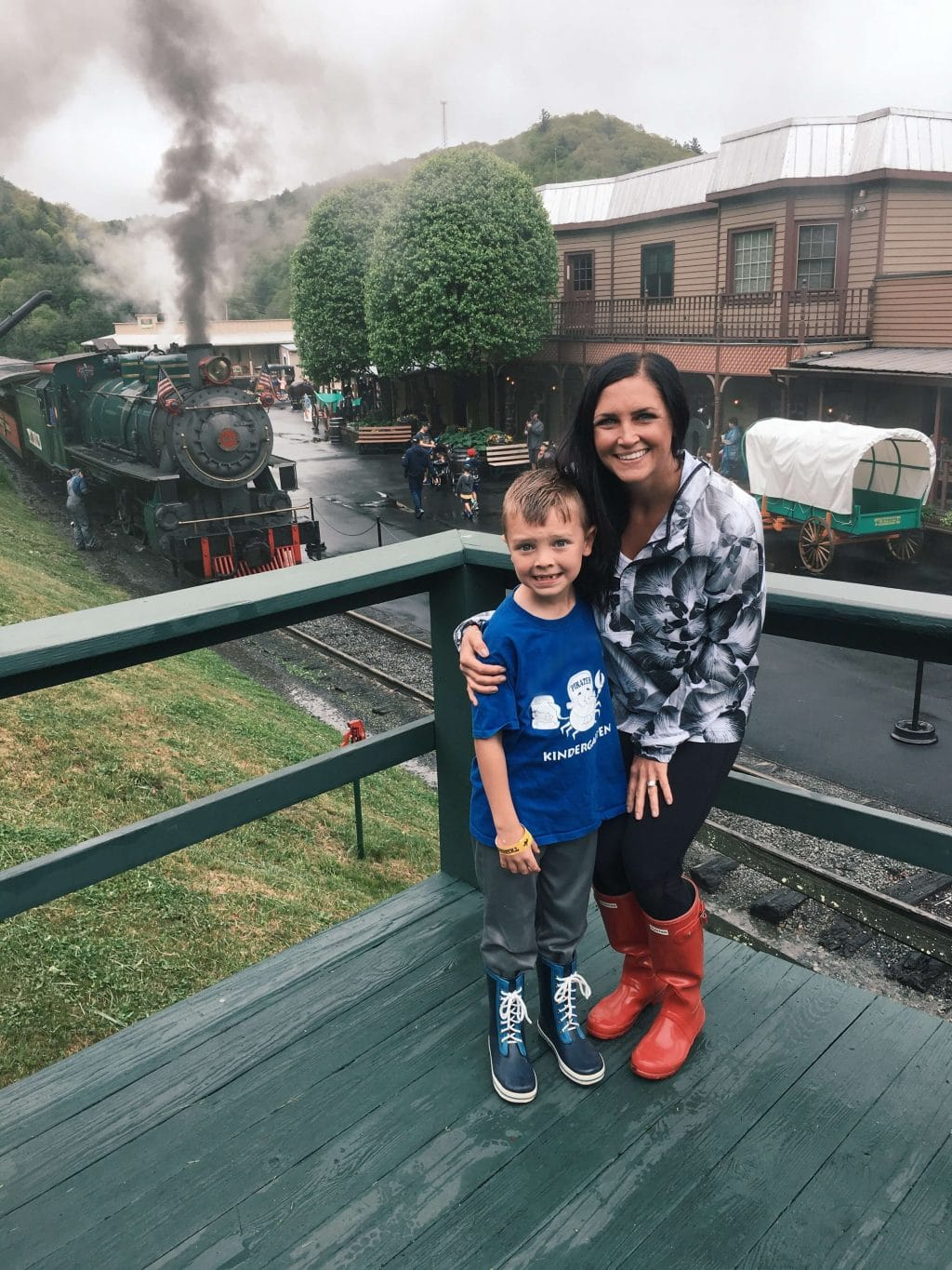 Mother Son Day, Tweetsie railroad, Stilettos and Diapers