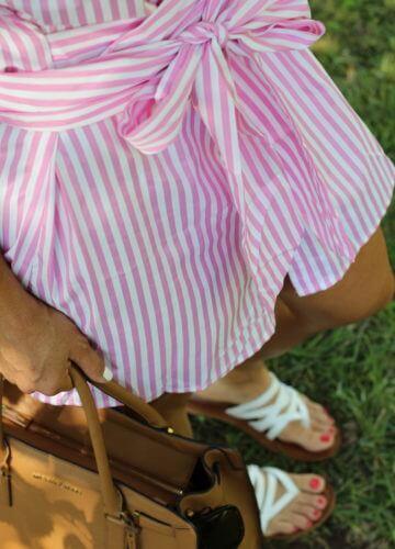 Seersucker Summer Dress, Stilettos and Diapers