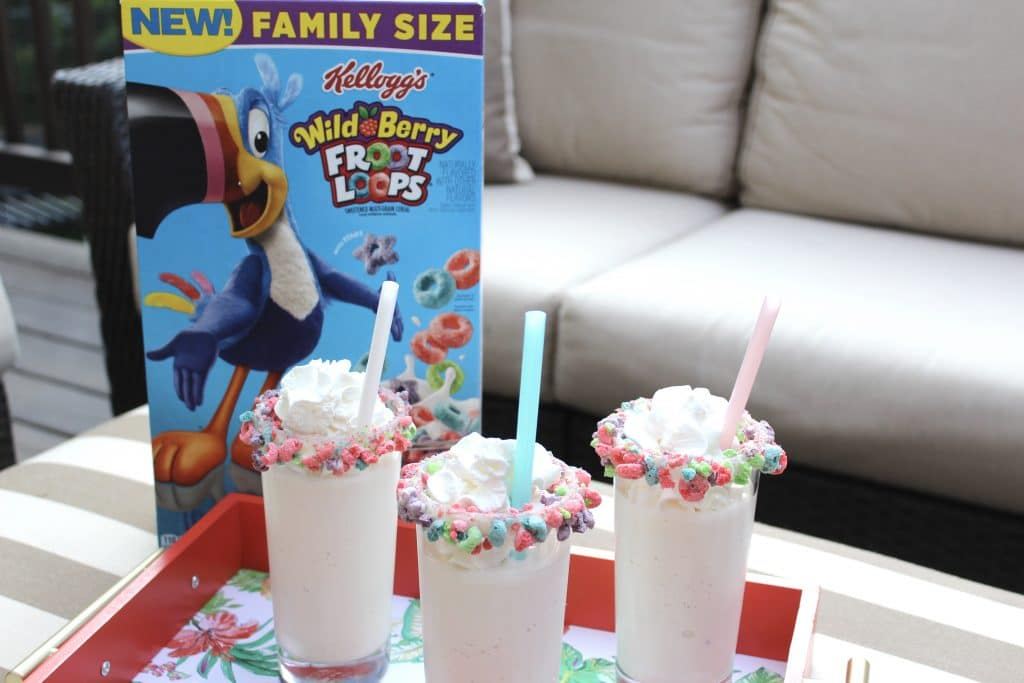 Froot Loop Milkshakes