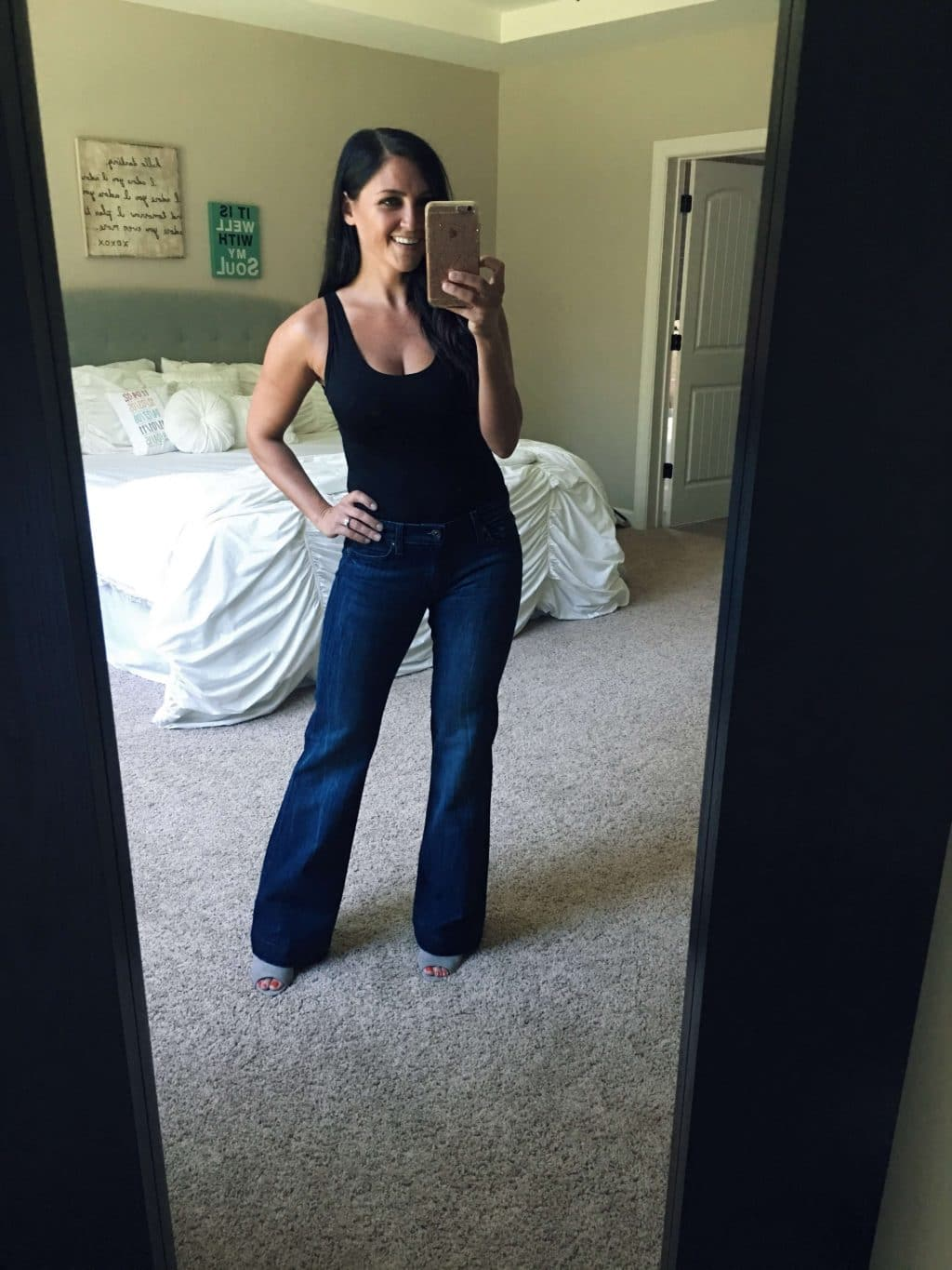 Body suit, flare jeans, cardigan, fall style 2018, stilettos and diapers, molly wey