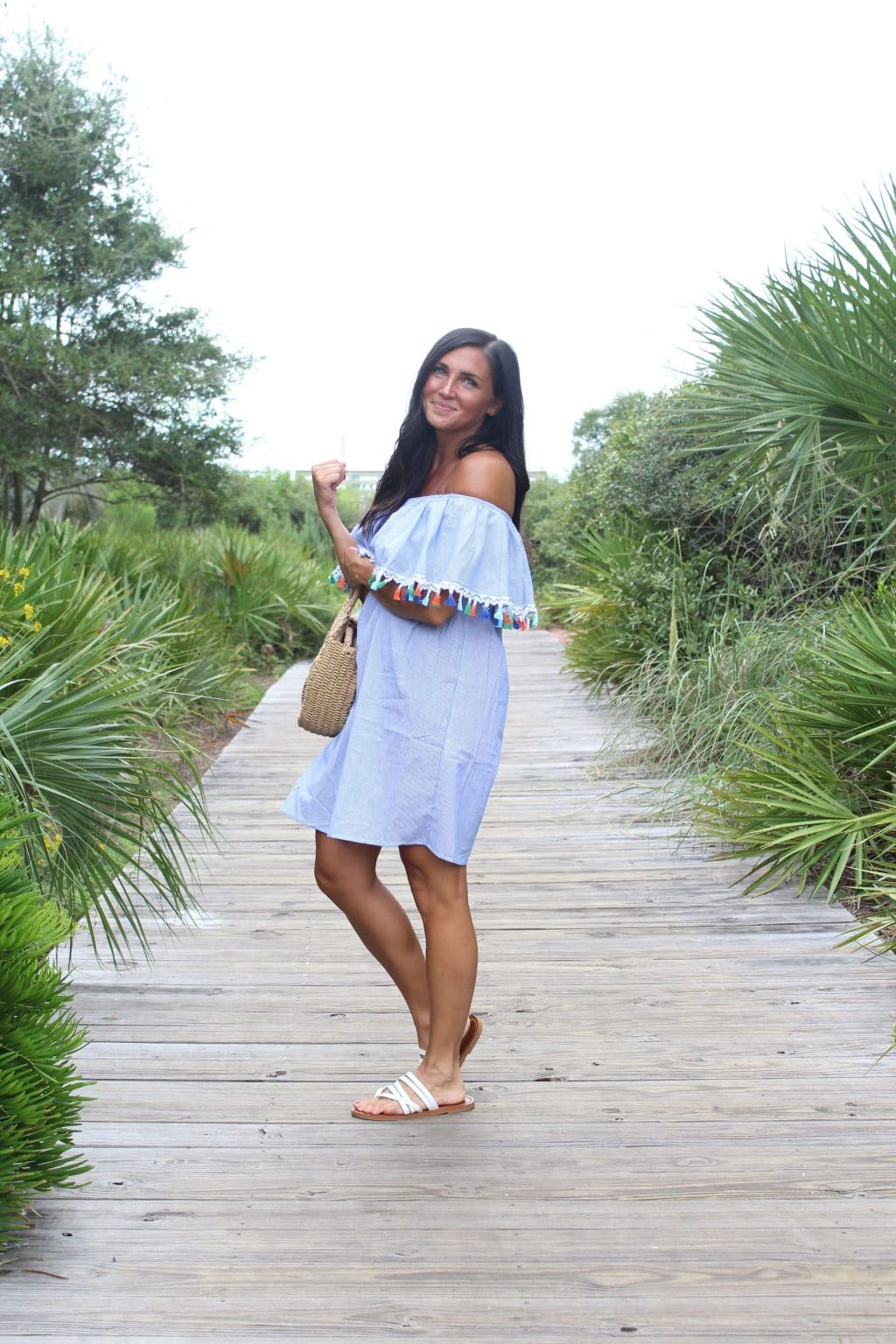 Summer Style, Labor Day Looks, Stilettos and Diapers, Molly Wey, 30A, Tassel Dress