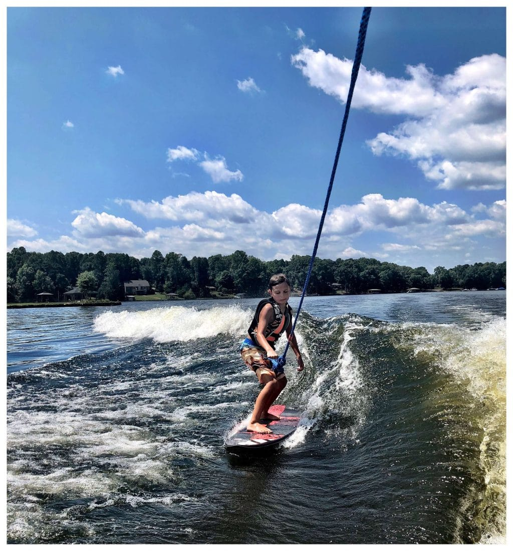 Stilettos and Diapers, Wake Surf, Cooper Wey, Lake Effects Boat Club