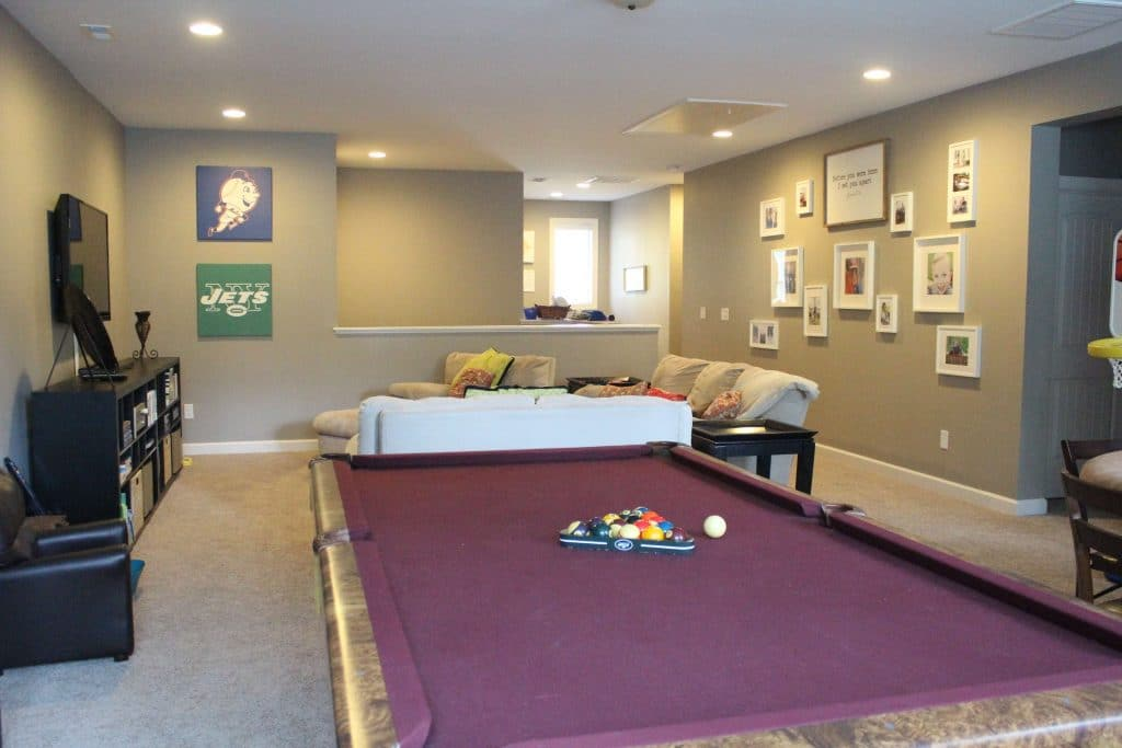Family friendly Game Room, Stilettos and Diapers