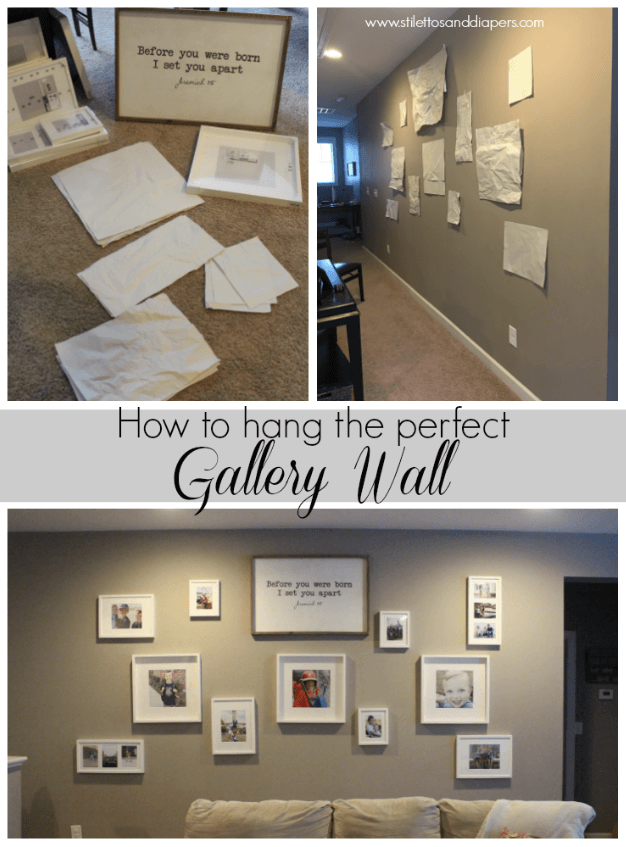How to hang a gallery wall, Stilettos and Diapers