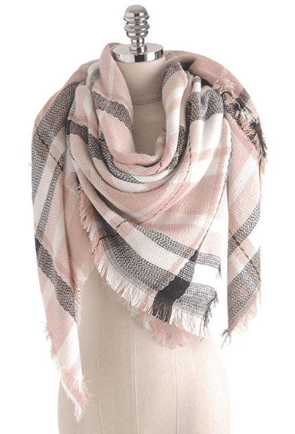 Pink plaid blanket scarf, Amazon Fashion, Stilettos and Diapers