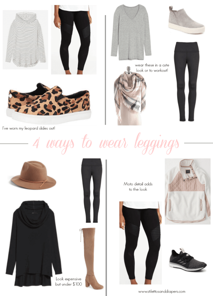 4 ways to wear leggings, Stilettos and Diapers, Molly Wey, Style Inspiration