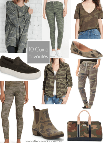 Camo favorites, best camo pieces, Stilettos and Diapers