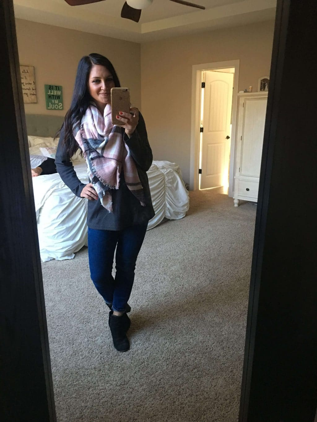 Molly Wey, Stilettos and Diapers, Fall Style, Blanket Scarf, Amazon Finds