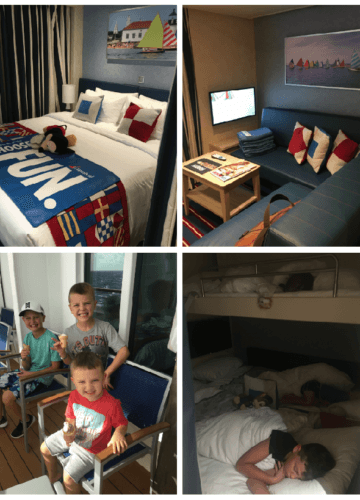 Carnival Horizon, Family Harbor Suite Review, Stilettos and Diapers, Cooper Wey, Callan Wey, Lincoln Wey