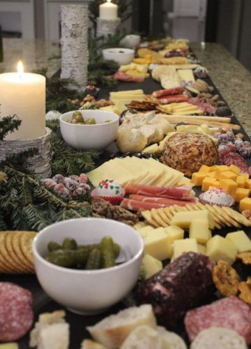 Charcuterie Board, Stilettos and Diapers, Christmas Party Food, Party food, Cheese and crackers