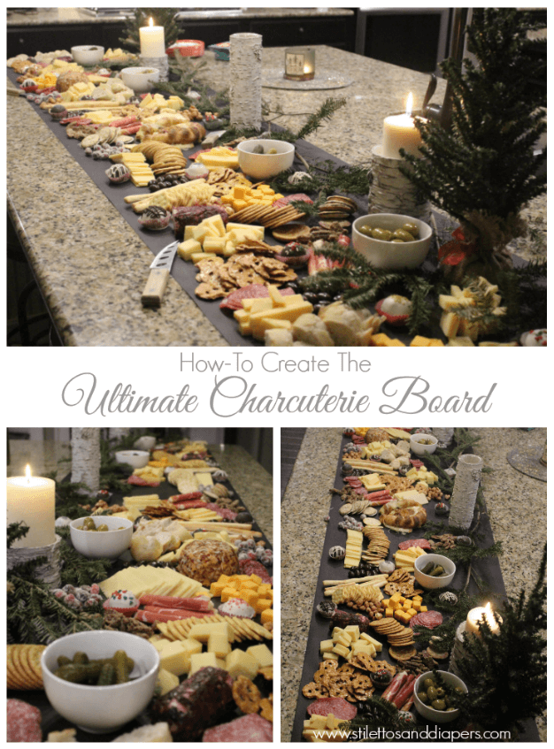 Ultimate Charcuterie Board, Stilettos and Diapers, Christmas Party, Molly Wey