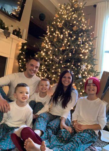 Family Matching Christmas Pajamas, Stilettos and Diapers