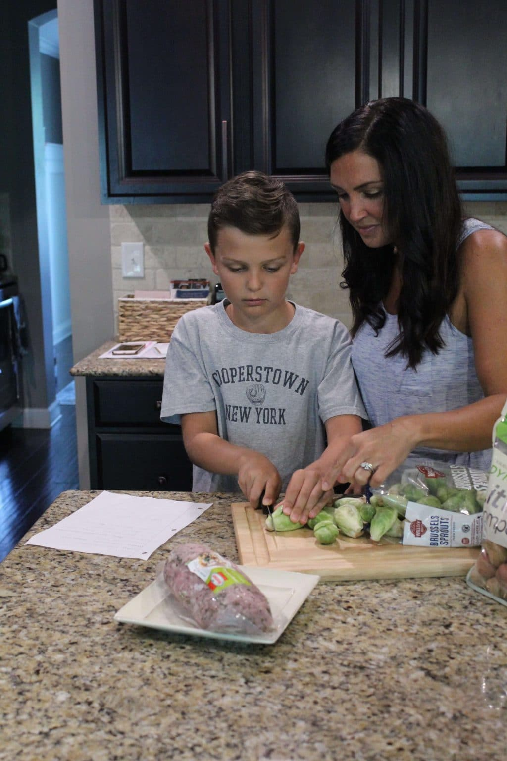 Kids in the kitchen, Whole30 with kids, Molly Wey, Cooper Wey via Stilettos and Diapers