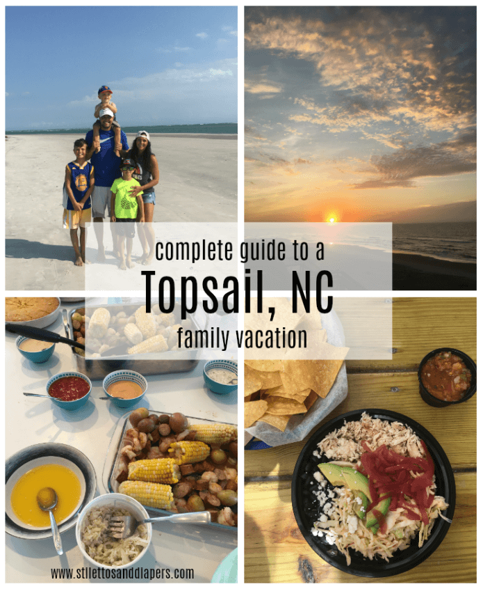 Topsail, NC, Surf City, NC Family vacation guide. Where to stay, what to eat via Stilettos and Diapers