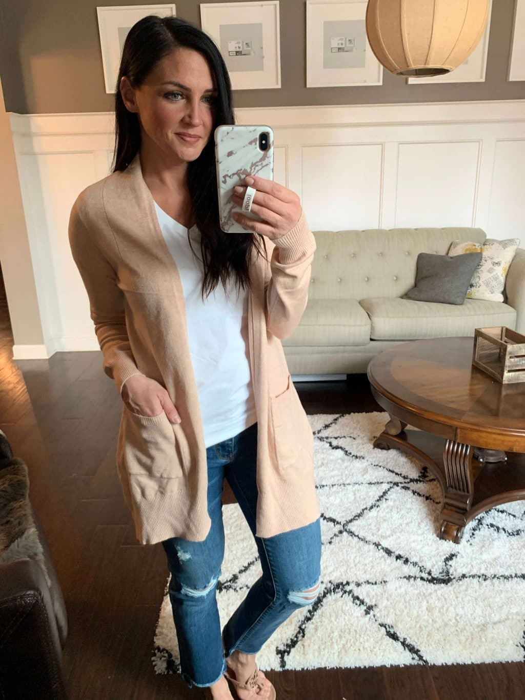 Blush Cardigan, Amazon Haul, Best Amazon Fashion, Stilettos and Diapers, Molly Wey