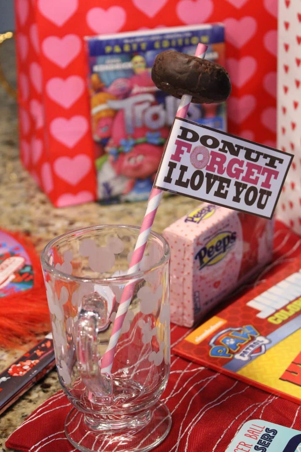 Donut forget I love you printable, Valentine's Day with kids, Stilettos and Diapers