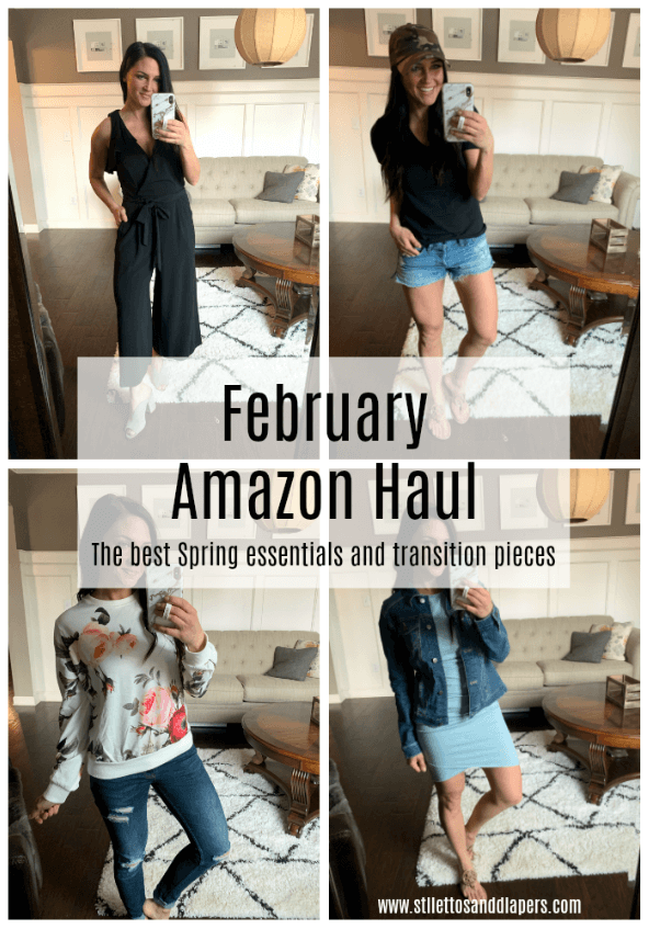 February Amazon Haul, Best Spring Pieces, Spring Transition style, Stilettos and Diapers, Molly Wey