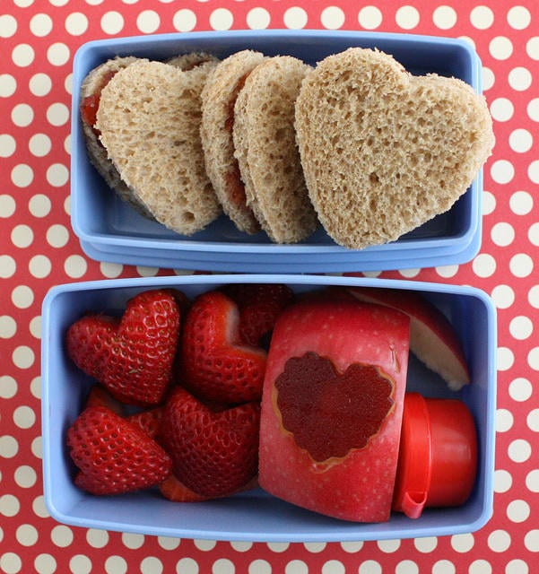 Valentine's Day Lunch For Kids, Stilettos and Diapers