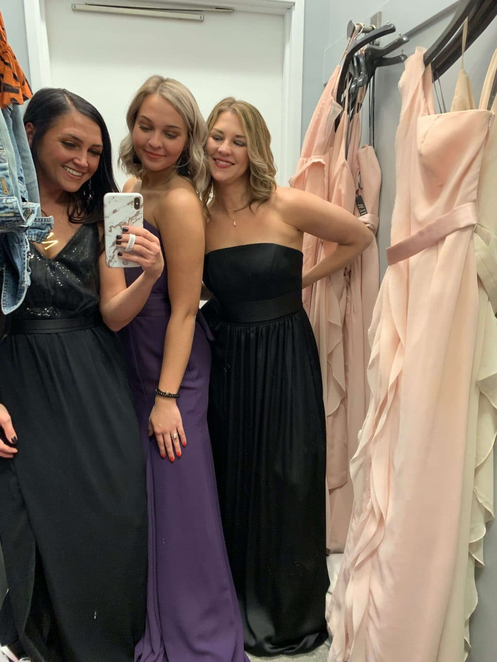 Wedding Dress Shopping, Sisters, Bridesmaids Dresses, Stilettos and Diapers