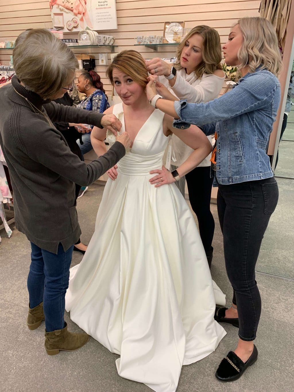 Wedding Dress Shopping, Sisters, Stilettos and Diapers