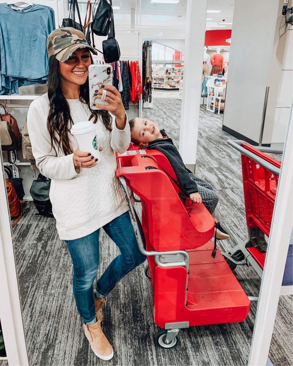 TargetStyle, Cart life, Boymom, Spring Style, Camo Hat, Stilettos and Diapers, Molly Wey