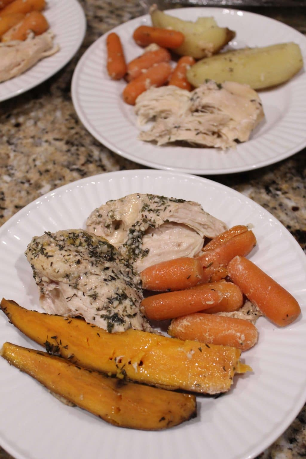 Crockpot Lemon Thyme Chicken, Easy family meals, Stilettos and Diapers