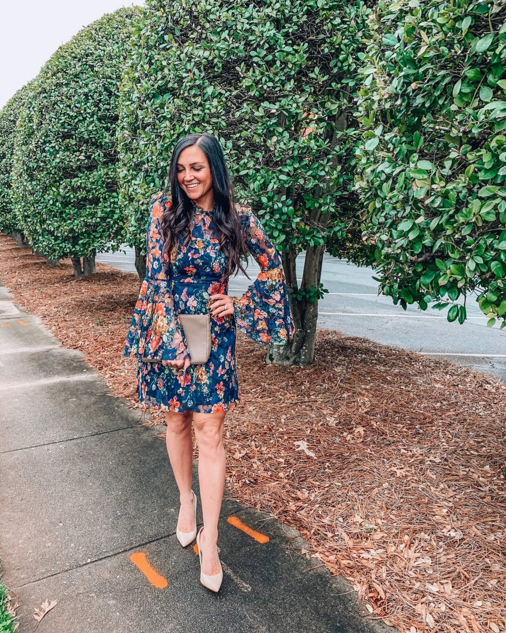 Floral Dress, Spring style, Stilettos and Diapers