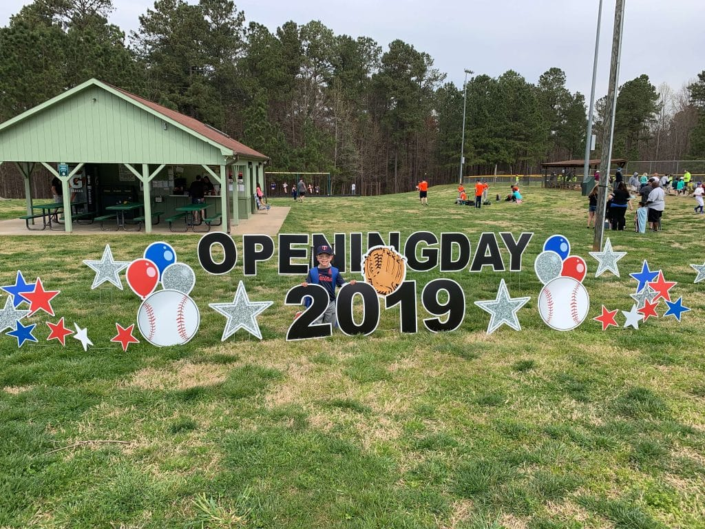 Callan Wey, Opening Day, Rec Baseball, Stilettos and Diapers