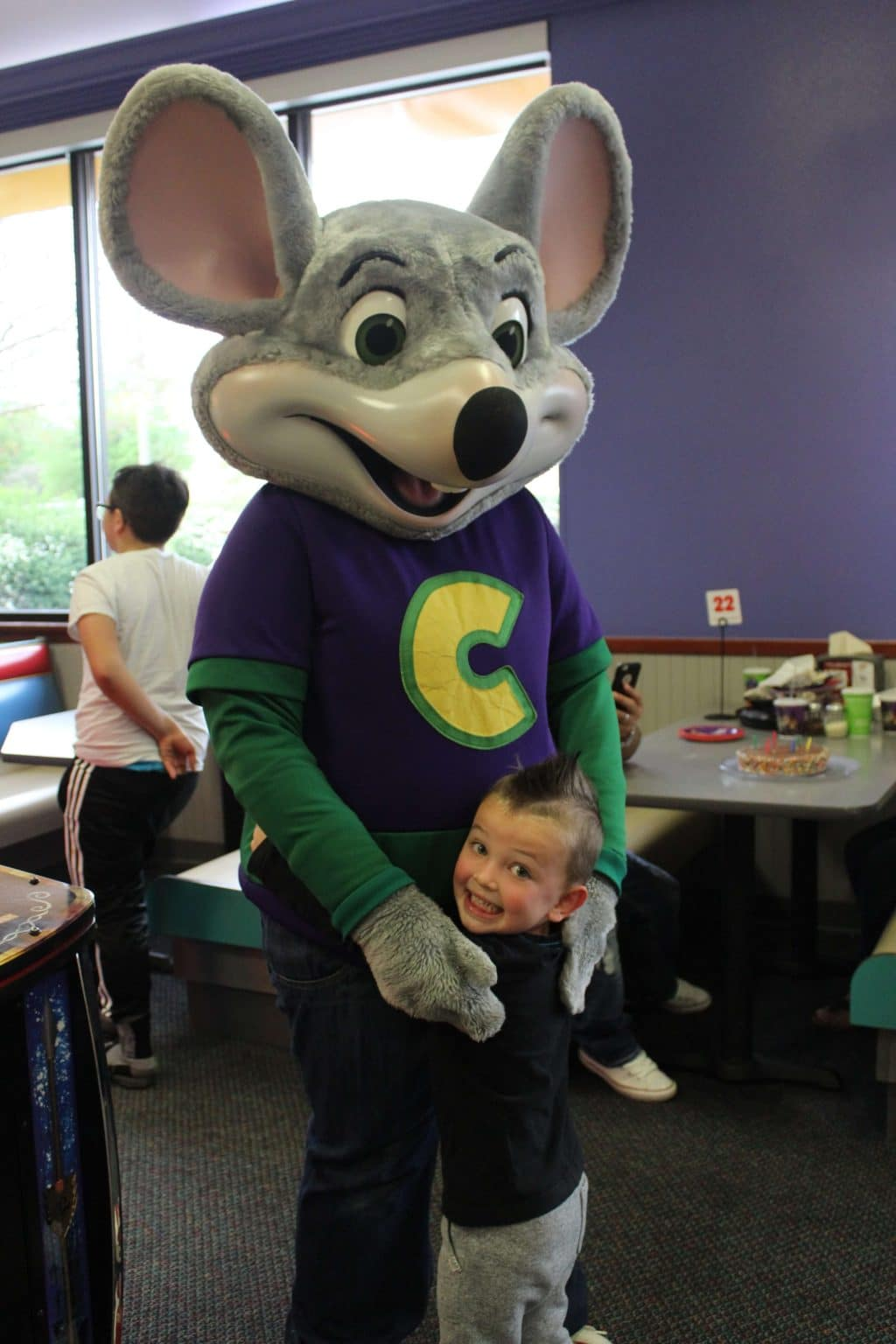 Chuck E Cheese, Stilettos and Diapers, Spring Break Fun