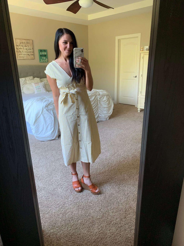 Amazon Haul, Stilettos and Diapers, Spring Style, Yellow dress