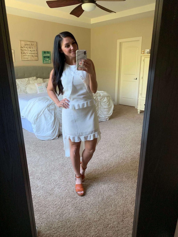 Amazon Haul, Stilettos and Diapers, Spring Style, White Dress,