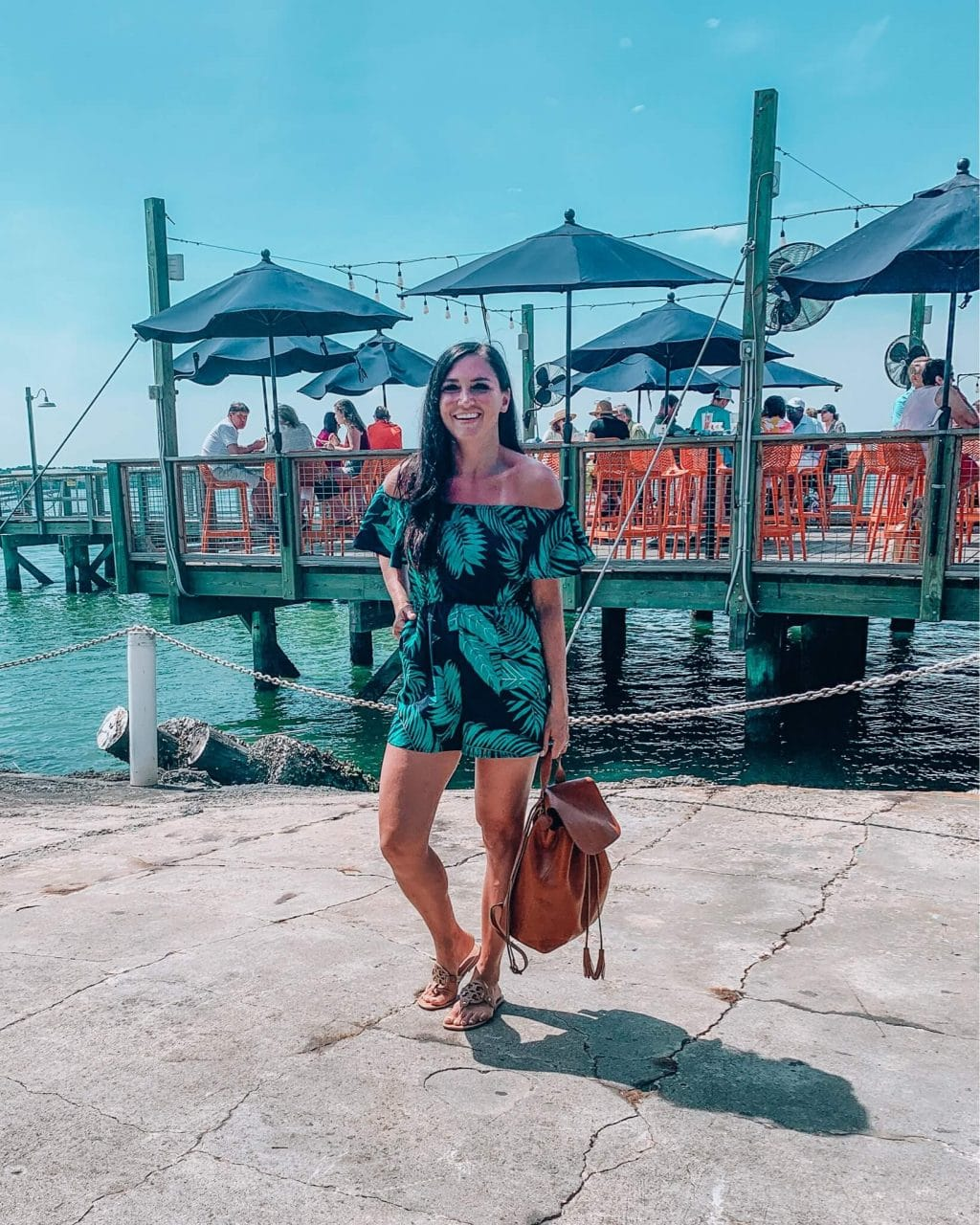 Instagram Fashion, Stilettos and Diapers, Molly Wey, Tropical Romper, Beach Style, Vacation style