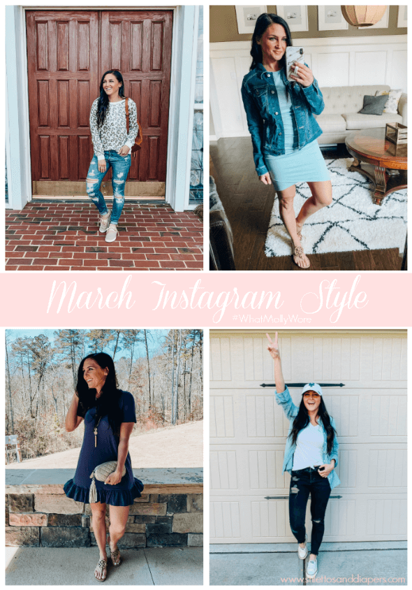 What Molly Wore March, Spring Instagram Style, Stilettos and Diapers