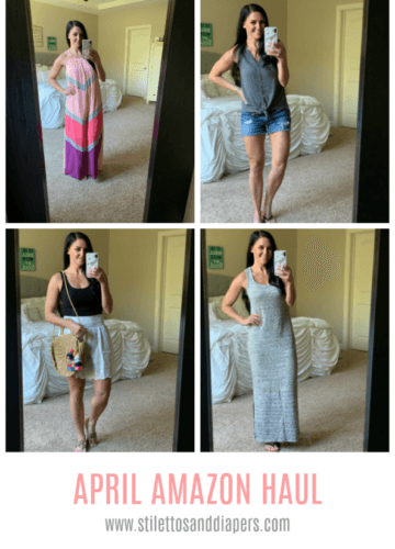 Amazon Haul, Stilettos and Diapers, Colorful Maxi Dress, Spring Style