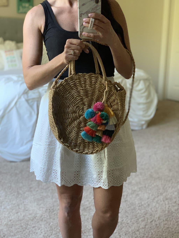 Amazon Haul, Stilettos and Diapers, Spring Style, Bag Pom Poms