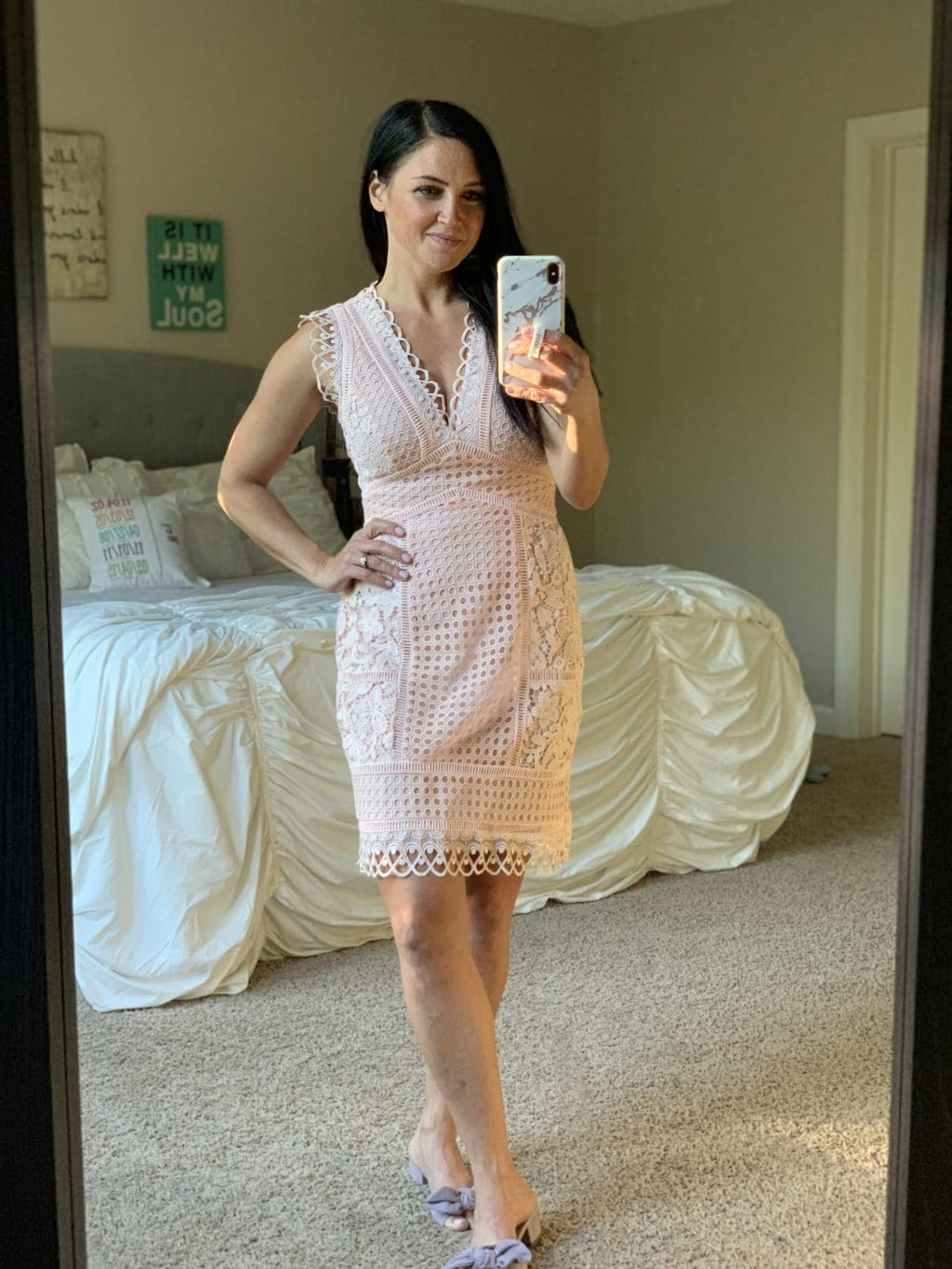 Amazon Haul, Stilettos and Diapers, Spring Style, Easter Dress, pink lace dress