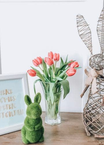 Easter Decorations, Stilettos and Diapers