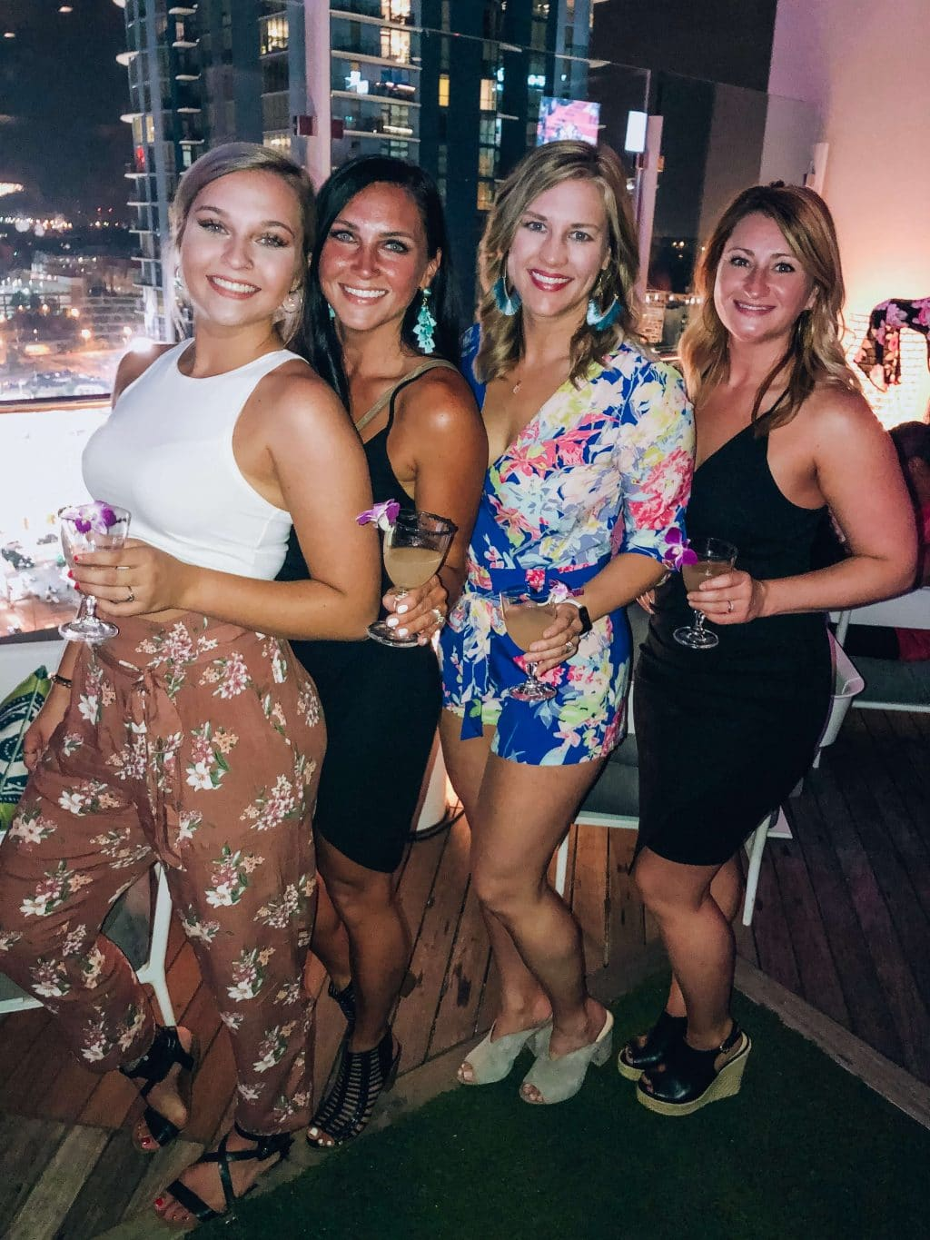 Sisters, Merchant and Trade, Charlotte NC night out, 21st Birthday party, Stilettos and Diapers