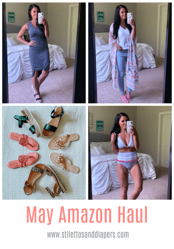 Amazon Fashion Haul, Summer Style, Stilettos and Diapers, Molly Wey, Floral Kimono