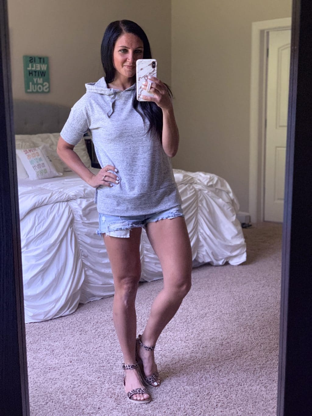 Amazon Fashion Haul, Summer Style, Stilettos and Diapers, Molly Wey, Short Sleeve Hoodie, Athleisure