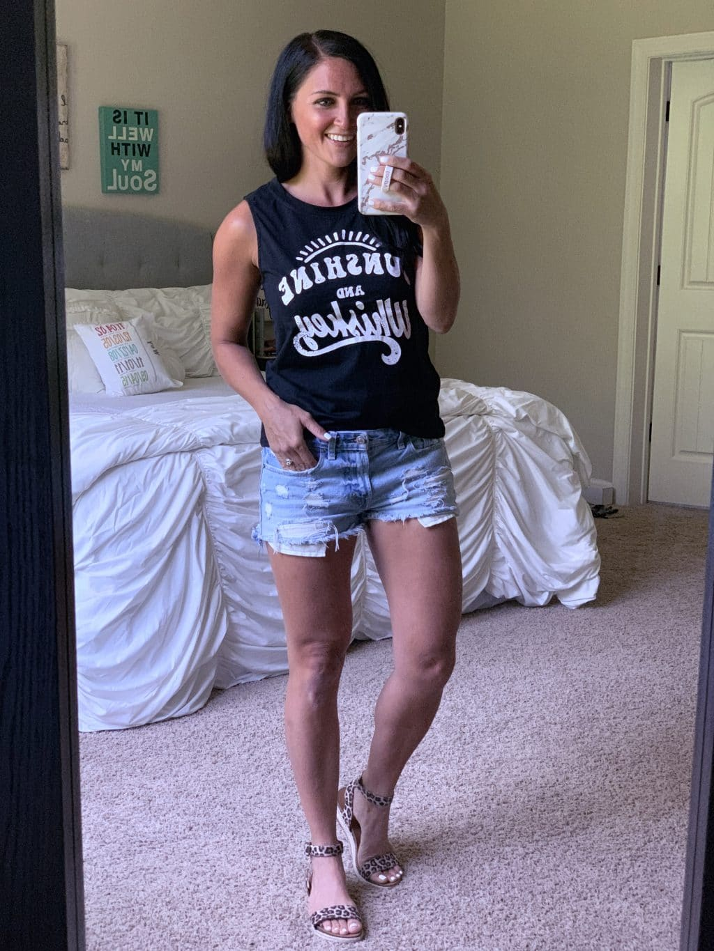 Amazon Fashion Haul, Summer Style, Stilettos and Diapers, Molly Wey, Sunshine and Whisky Tank, Country Concert Outfit