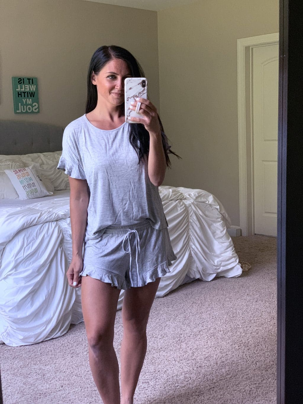 Amazon Fashion Haul, Summer Style, Stilettos and Diapers, Molly Wey, Ruffle Pajamas, Cute PJs