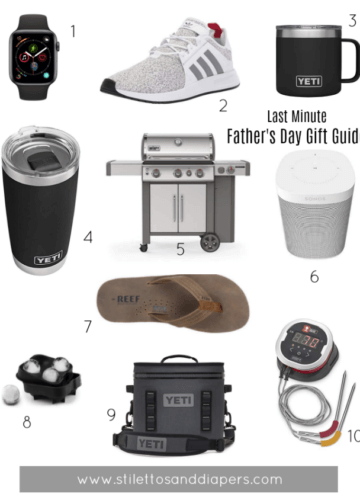 Last Minute Father's Day Gift Guide, Stilettos and Diapers