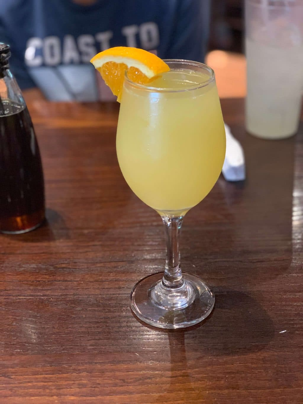 Stilettos and Diapers, Famous Toastery, Creamsicle Mimosa