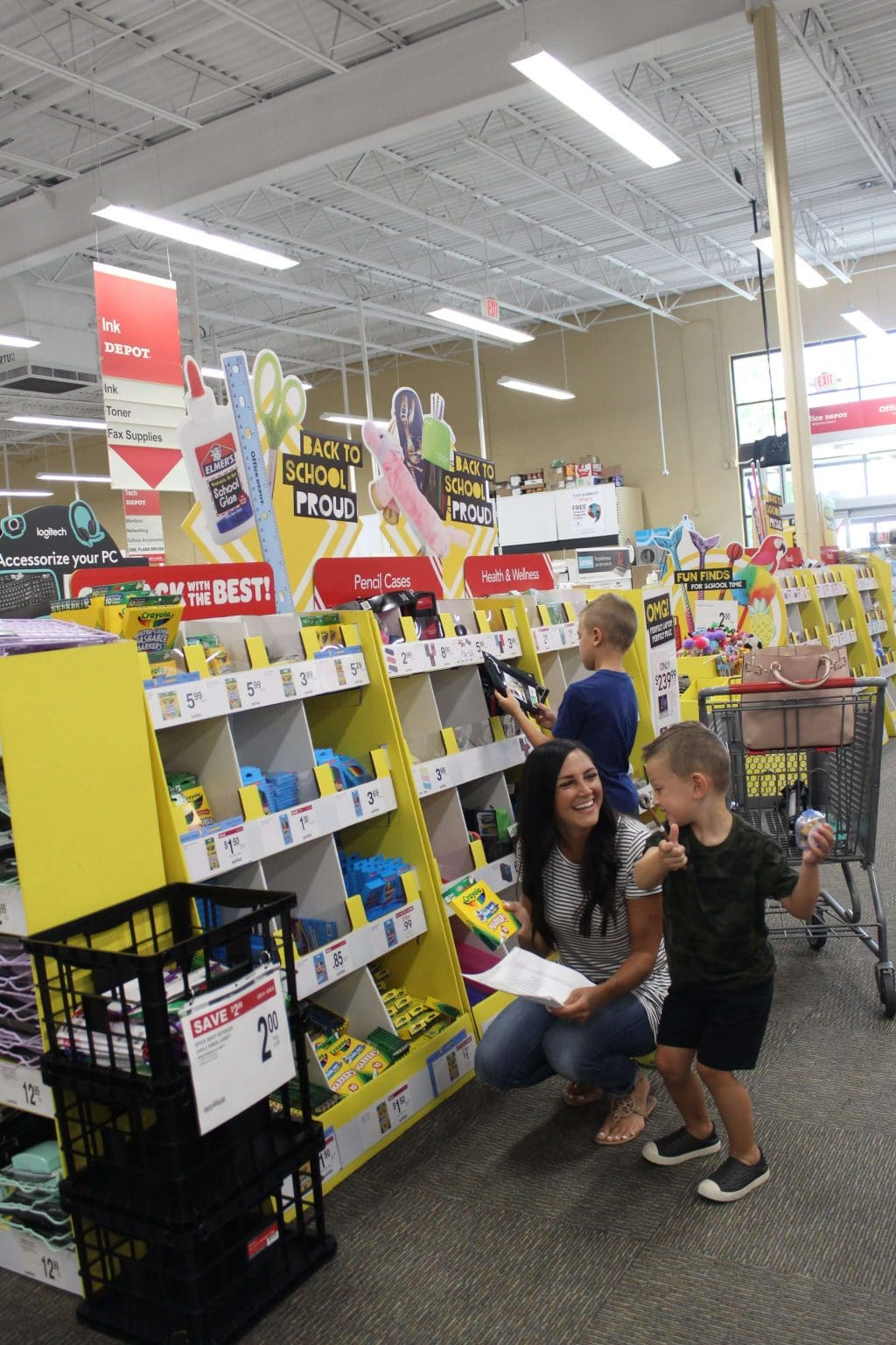 Office Depot Back To School, Stilettos and Diapers, Lincoln Wey