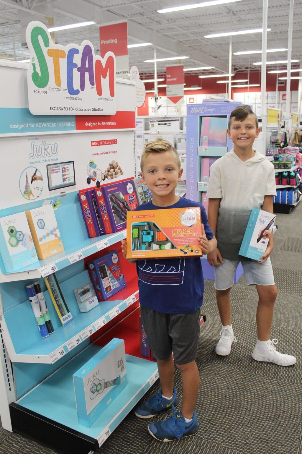 Office Depot Back To School, STEAM kits, Stilettos and Diapers, Cooper Wey, Callan Wey
