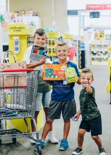 Office Depot Back To School, Stilettos and Diapers, Cooper Wey, Callan Wey, Lincoln Wey