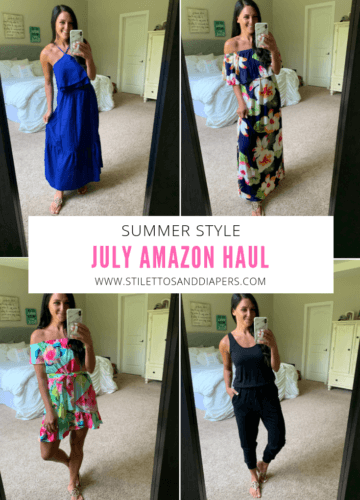 July Amazon Haul, Stilettos and Diapers, Molly Wey