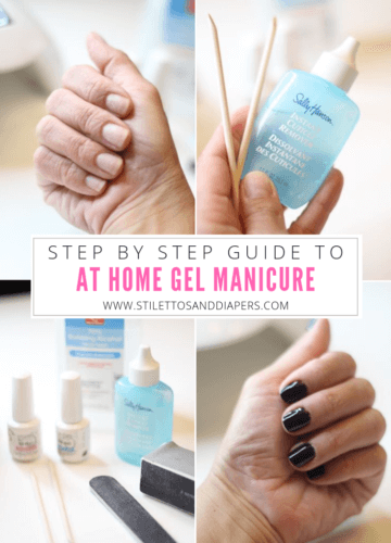How to do gel nails at home, At home gel manicure, Stilettos and Diapers